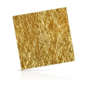 Золотые пластины «Gold leaves for mask»