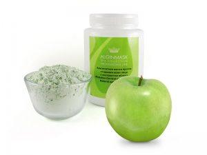 Альгинатная маска против старения кожи лица с экстрактом яблока.
